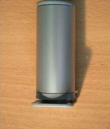 10cm-es fém alu hengeres bútorláb