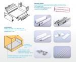 StrongBox 450mm dupla oldalkorlátos fiók