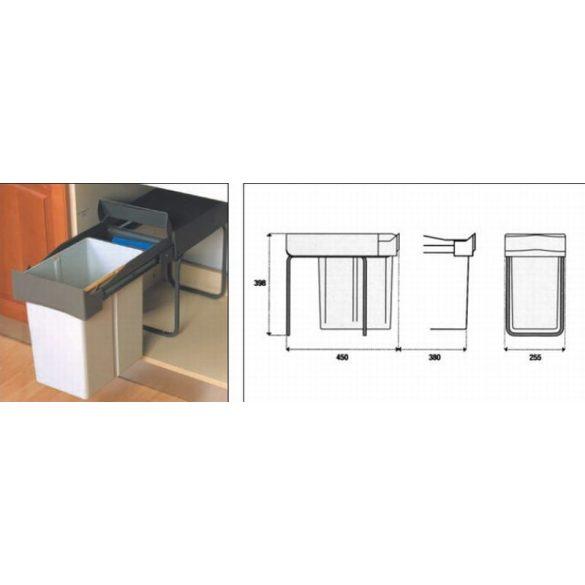 Art 226 Műanyag hulladékgyűjtő fenéklapra szerelhető