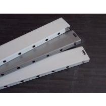 Fiókmagasító korlátrúd 400/395 metall RAL 9006