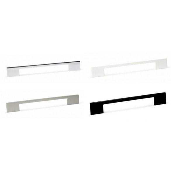 DINO - H= 156mm fogantyú fényes króm, matt nikkel, matt fehér, matt fekete (96-128mm)