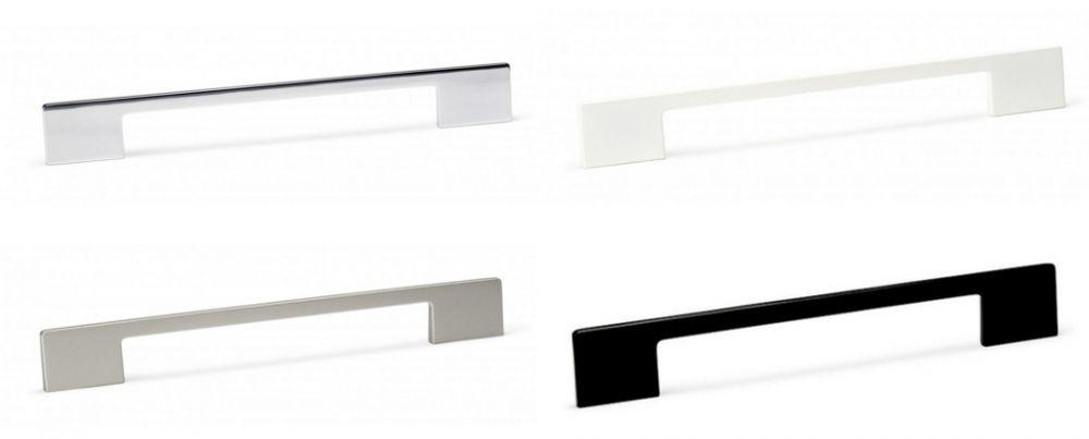 DINO - H= 349mm fogantyú fényes króm, matt nikkel, matt fehér ...